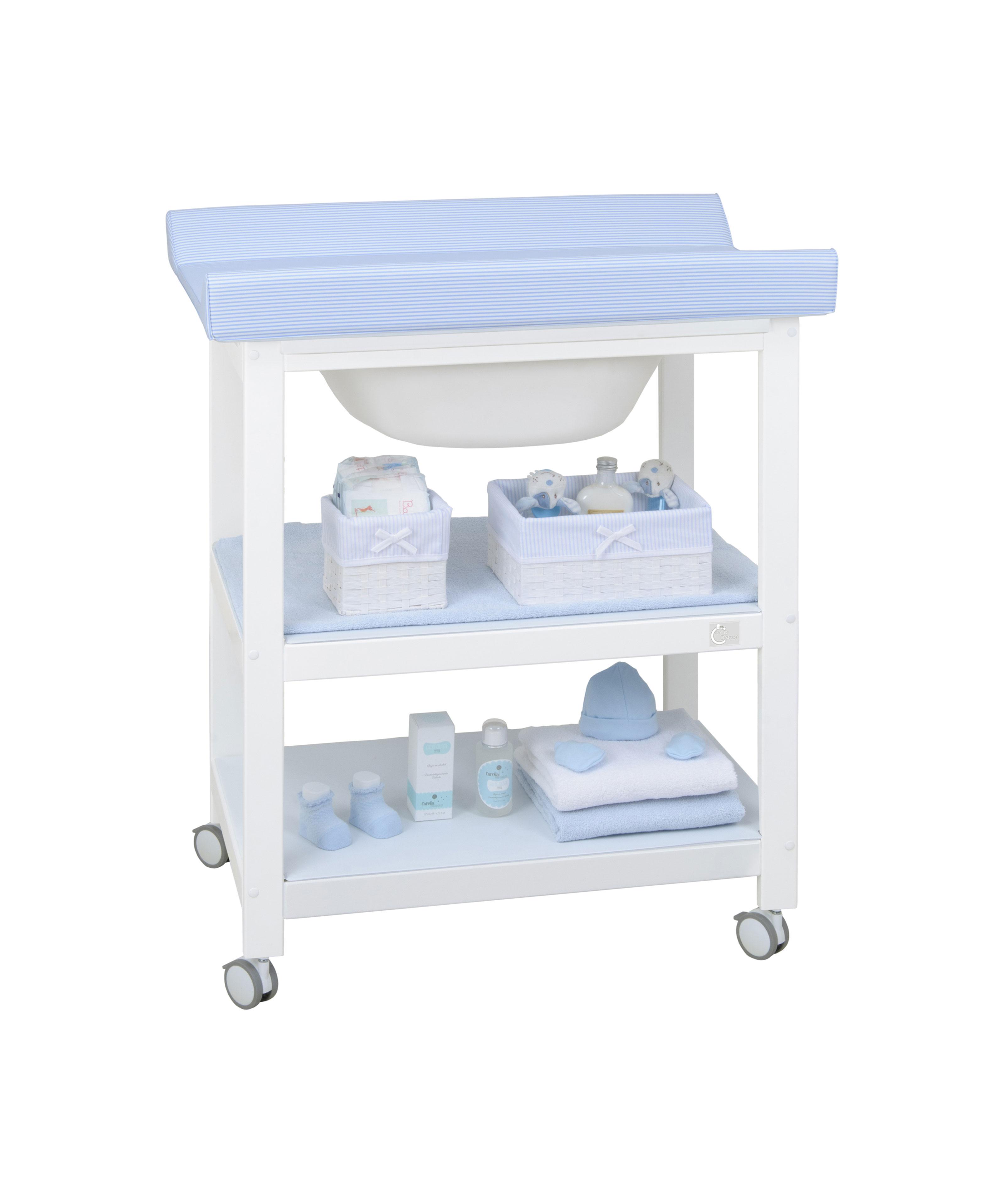 Mueble bañera con cambiador