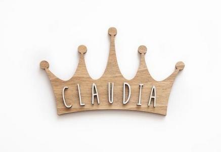 Placa personalizable corona